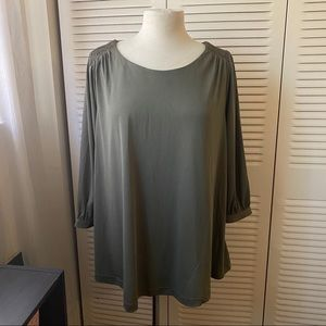 Isabel Maternity| L |Olive Green Mid Sleeve Blouse